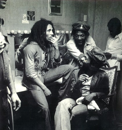 Don Kinsey (front) with Bob Marley