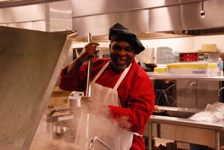 Hot dinners are waiting for those in need. James, the Head Chef at Mel Trotter Ministries, was once a resident in the program.
