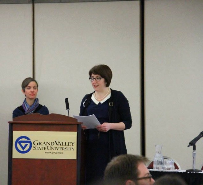 WMEAC Executive Director Rachel Hood at a past symposium.