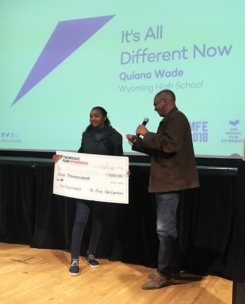 Winner Quiana Wade is from Wyoming High School