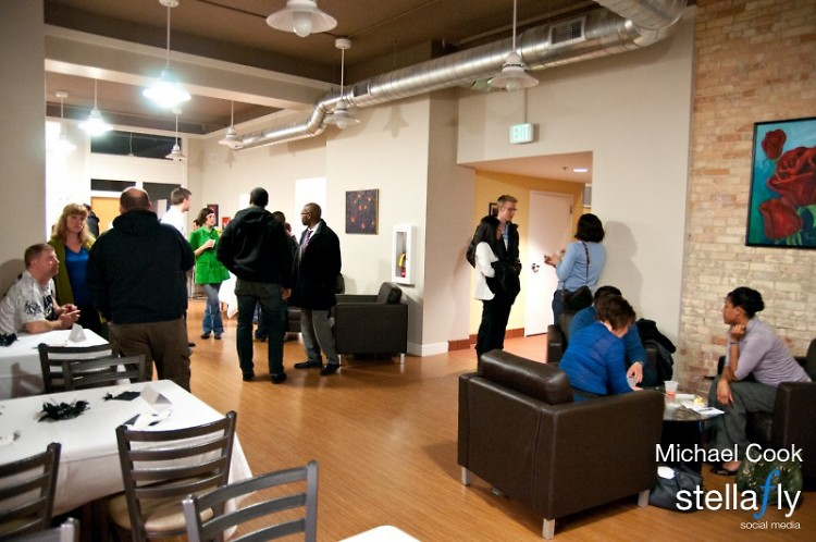 Mixing and mingling at LINC Up First Fridays