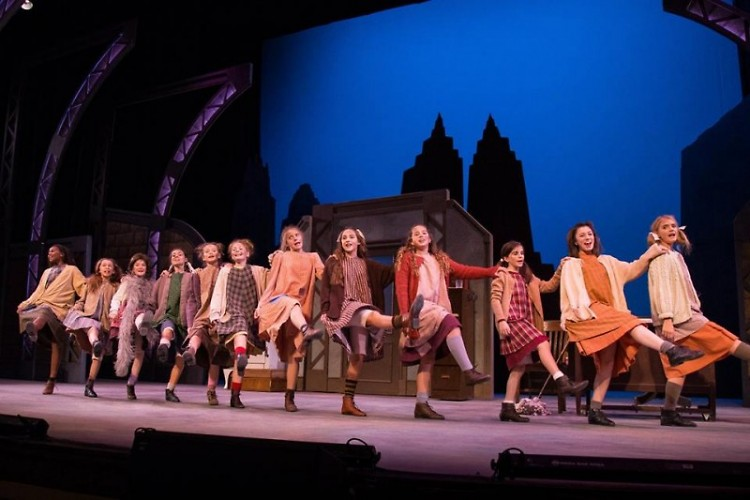 Actors in this season's performance of Annie
