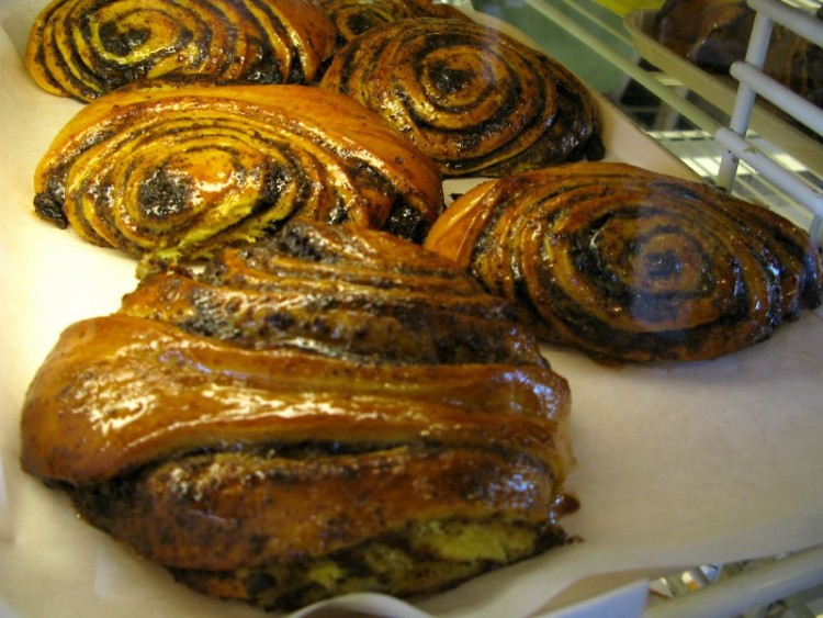 Beigli, one of many Hungarian pastries available at the market.