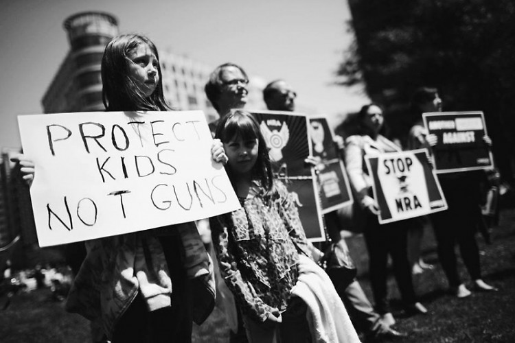 Protests of gun-violence following Marjory Stoneman Douglas High School shooting.