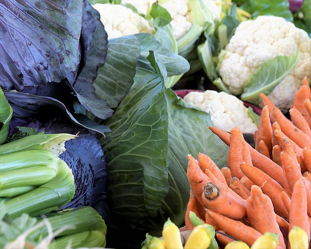 Fresh local vegetables are provided to CSA members