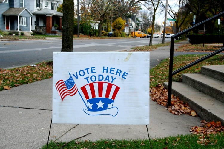 Local voting sign