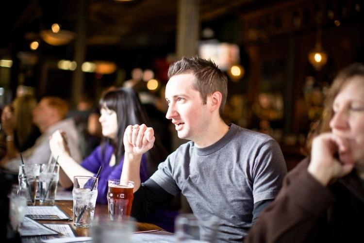HopCat has an extensive beer menu.