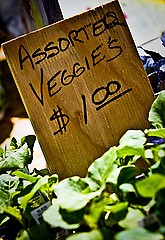 Check out the vegetables in season at the Fulton Street Farmers Market.