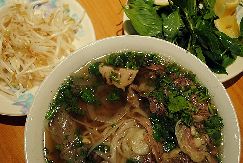 More or less what phở traditionally looks like