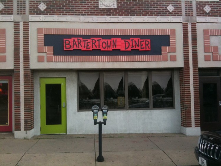 The exterior of Bartertown Diner and Roc's Cakes