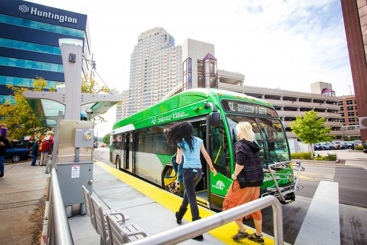 Ride the Silver Line at no cost within the No Fare Zone downtown.