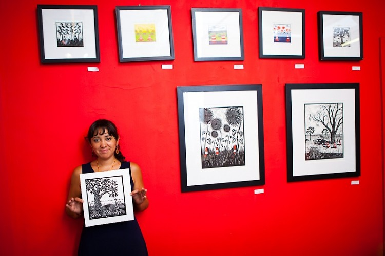 Alynn Guerra, the owner of Red Hydrant Press