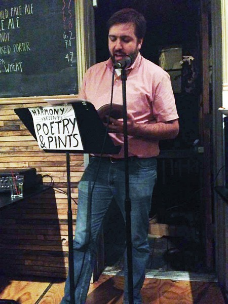 Amorak Huey reading at Poetry & Pints