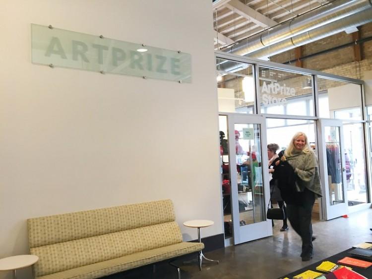 The lobby of ArtPrize HUB at 41 Sheldon