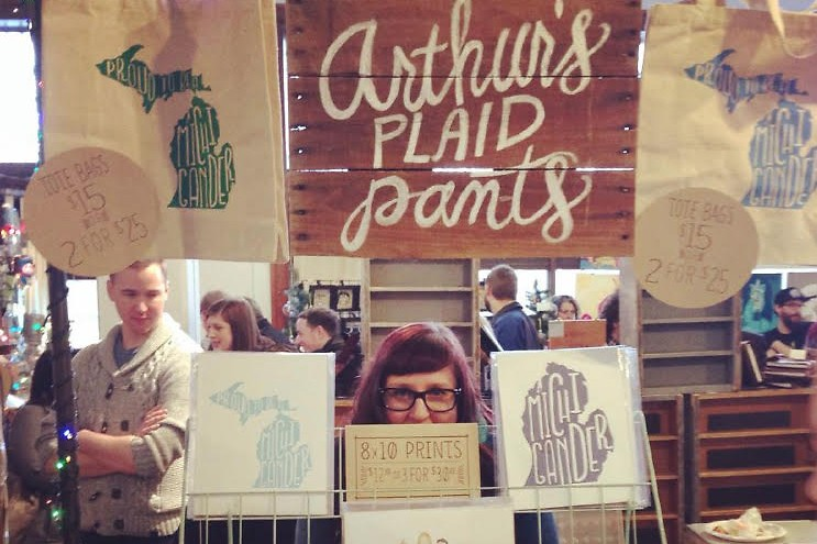 Jen Husted-Goss with her stand at DIYpsi.