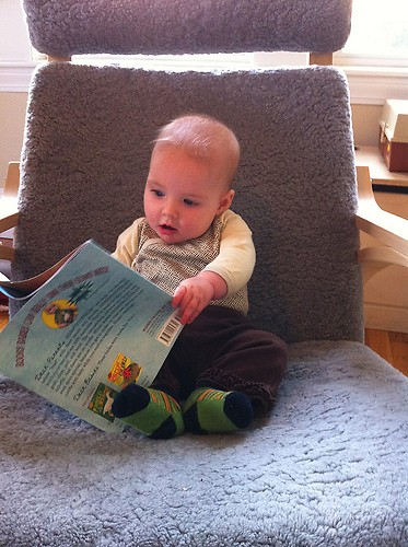 The pre-reading series at Grand Rapids Public Libraries is a good way to help children develop their language skills.