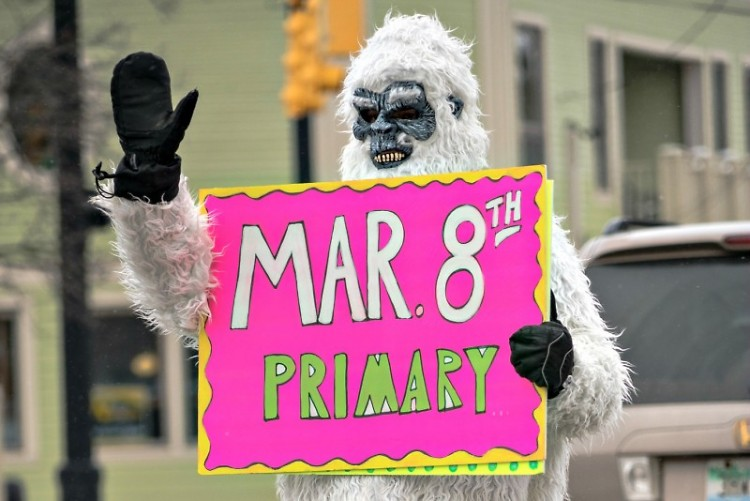 Local Bigfoot reminds Grand Rapidians to vote