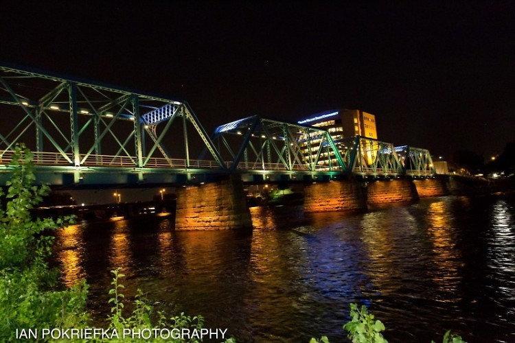 The City of Grand Rapids kicked off Hunger Action Month by lighting the Blue Bridge orange, the color of hunger.