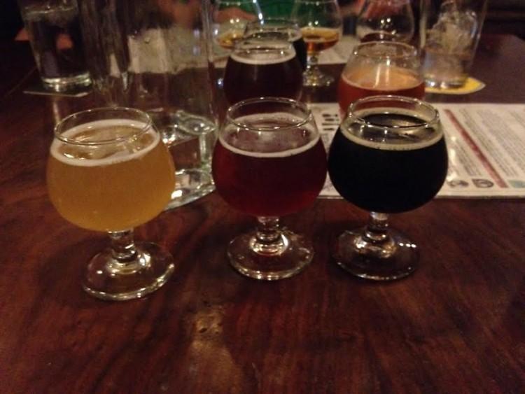 Flights at Brewery Vivant