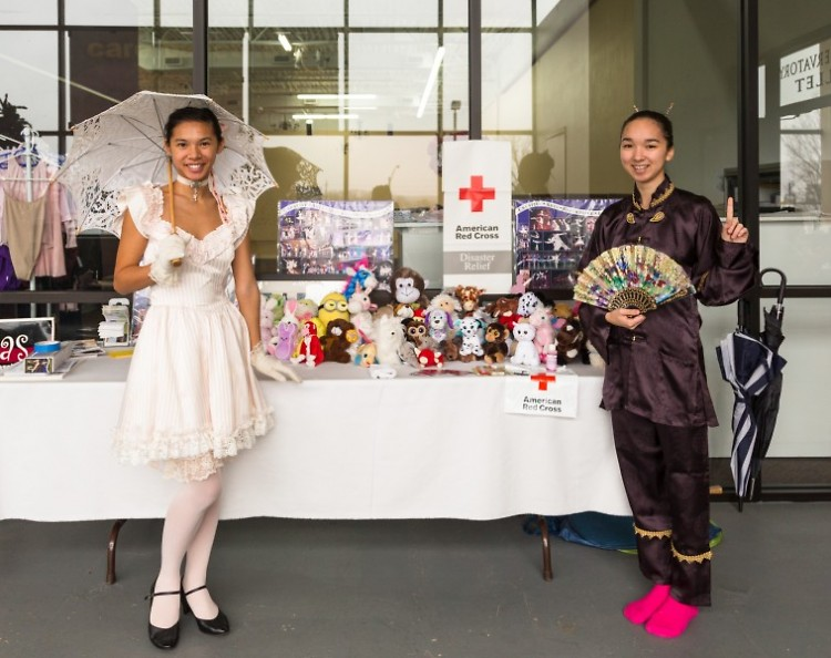CARE Ballet dancers dressed in costumes