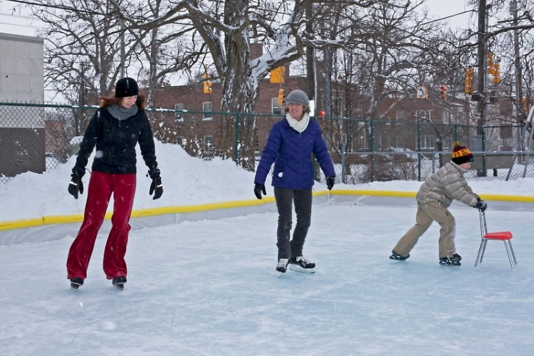 The Cherry Park Ice Rink regularly is open February and March