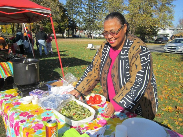Ms. Arlene Davis with her winning 2011 greens dish.