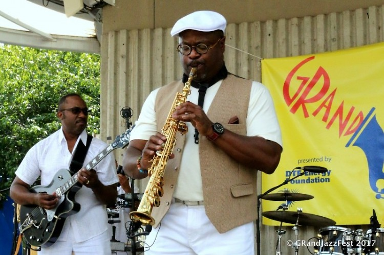 Isaac Norris performing in at the 2017 GRJazzFest