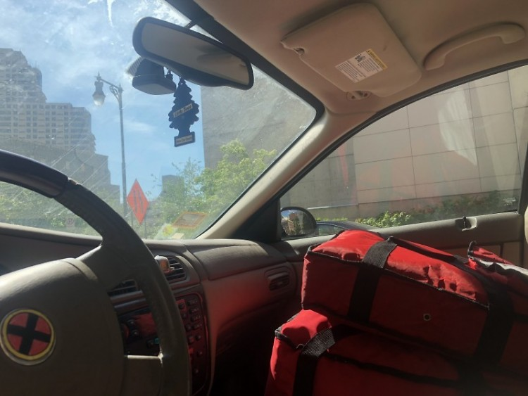 A delivery driver's view