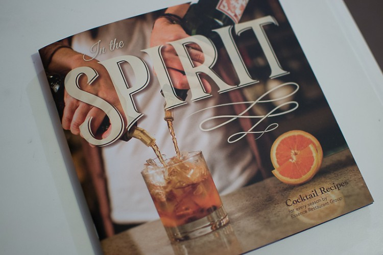 The cocktail recipe booklet for sale.