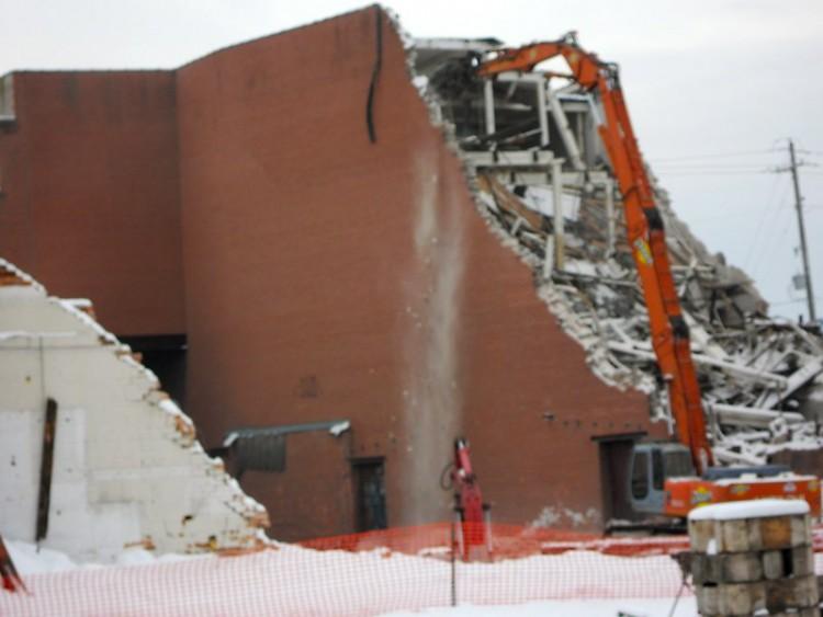 Demolition at future site of Grand Rapids' urban market
