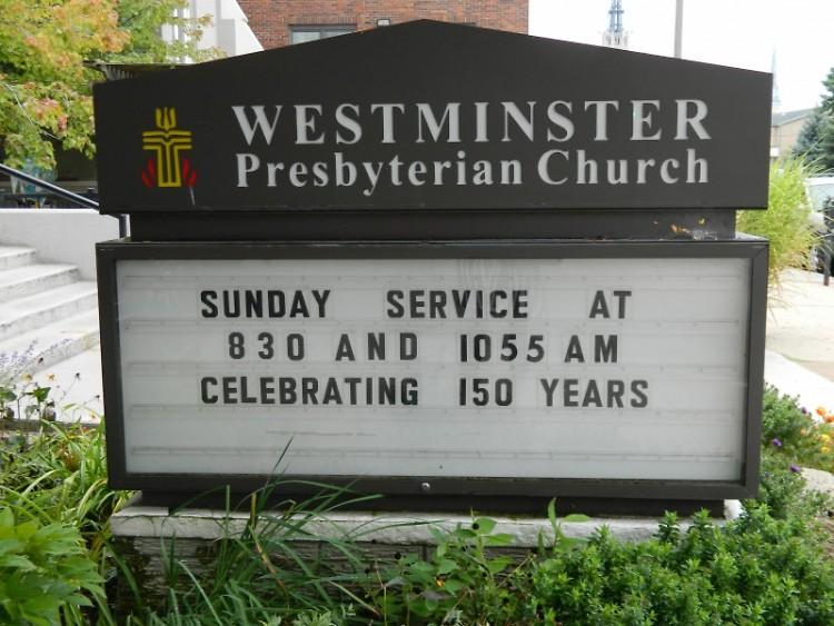 Westminster Presbyterian Church at 47 Jefferson Avenue SE celebrates its 150th birthday