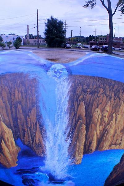Edgar Müeller's trompe l'oeil street painting ArtPrize 2011