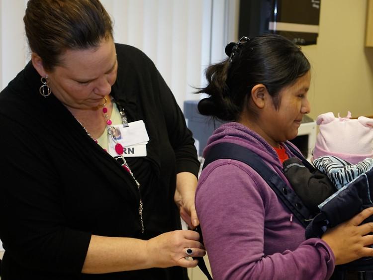 A patient receiving care at Clinica Santa Maria