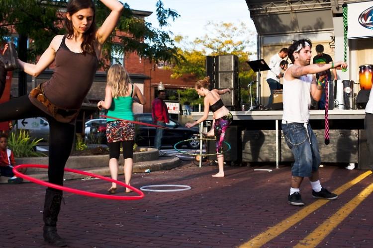Hula troupe at 2013 Street Fair