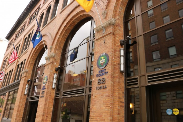 Kent County Friend of the Court offices at 82 Ionia downtown Grand Rapids.