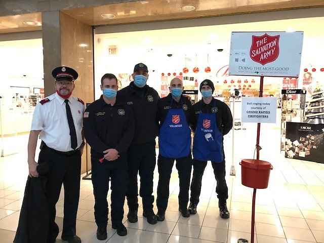 Grand Rapids Fire Department is ringing bells at Macy's throughout this week.