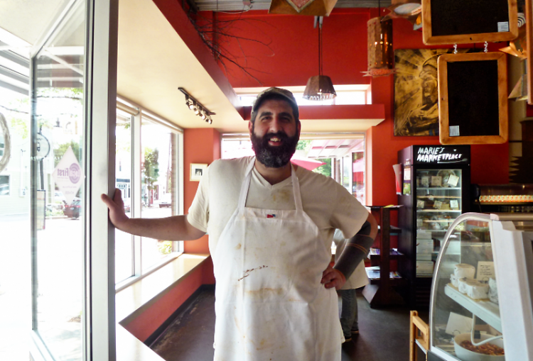 Fouad Catrib, owner of the restaurant Marie Catrib's.