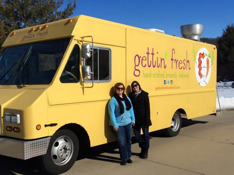 Emily Kelly and Abbie Sterling, co-owners of Gettin' Fresh food truck.