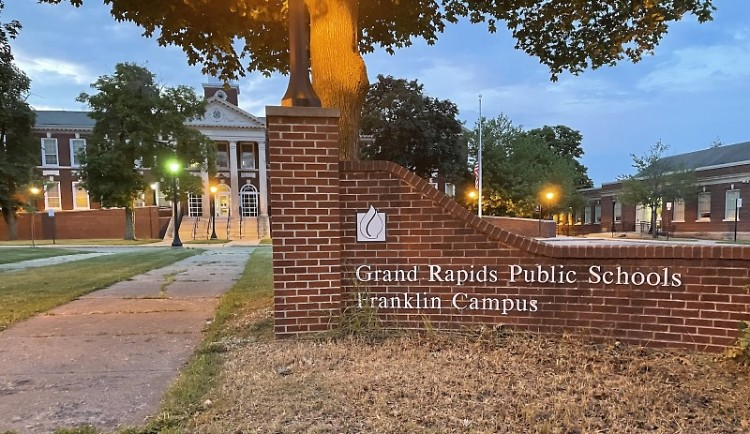 Franklin Campus - the administrative building for GRPS