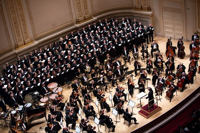 Grand Rapids Symphony and Symphony Chorus appeared in Carnegie Hall in New York City on Friday, April 20, 2018.