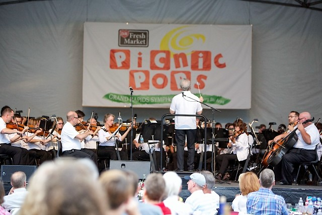 Grand Rapids Symphony's 2017 D&W Fresh Market Picnic Pops opens its 23rd summer on Thursday and Friday, July 13-14