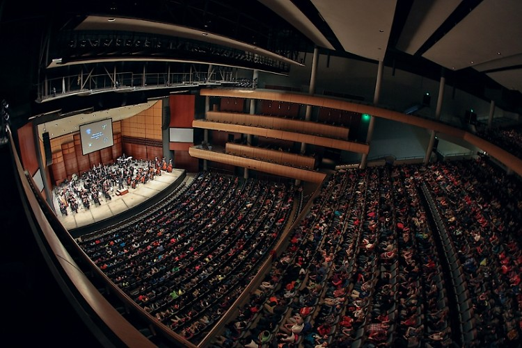 Grand Rapids Symphony's Fifth Grade Concerts often draw as many as 2,100 people per performance, as seen here in 2015