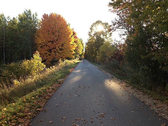 The Fred Meijer White Pine Trail is 92 miles long and a favorite destination in all seasons.