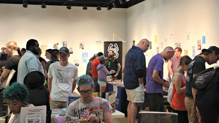 Attendees at Grand Rapids Zine Fest