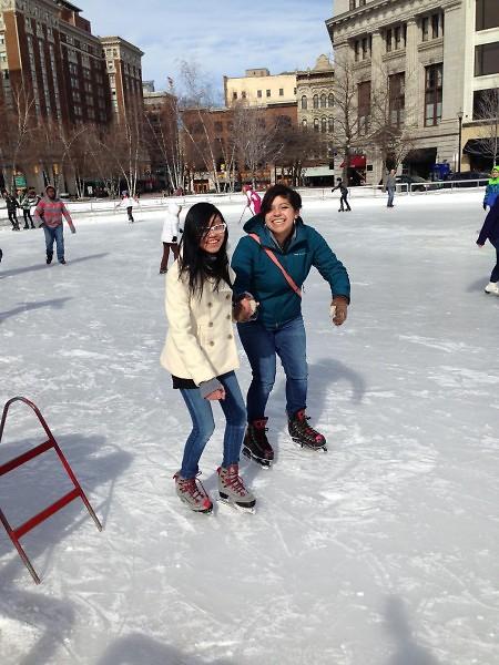 GAAH Press Club members skate at Rosa Parks Circle