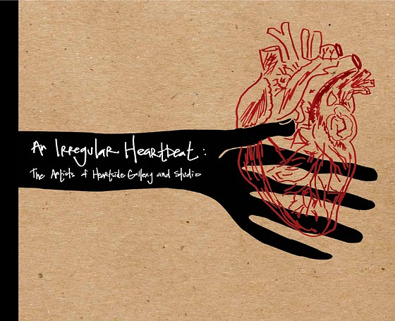 """""""An Irregular Heartbeat: The Artists of Heartside Gallery and Studio"""" Book Cover Design"""