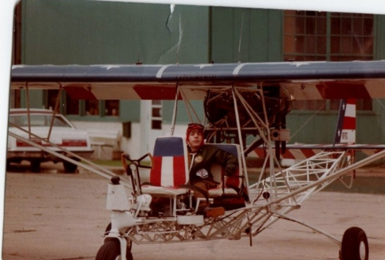 Ed flying 1974 Breezy as a child