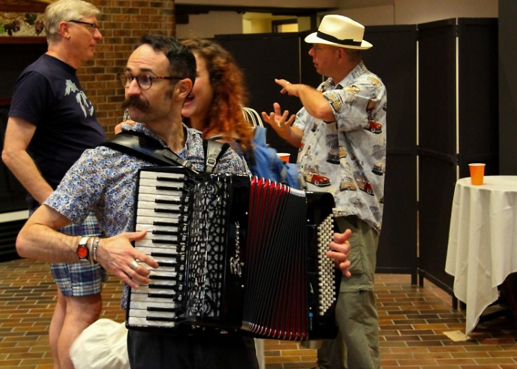 Some of the entertainment at last year's Volunteer Kick-Off Party included music by Michael Schaeffer