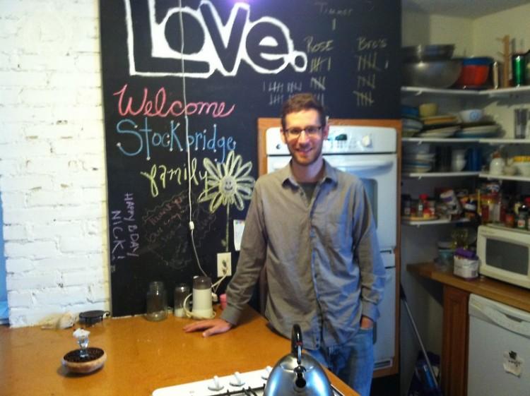 Tim Collier in the kitchen of the Stockbridge Boiler Room.