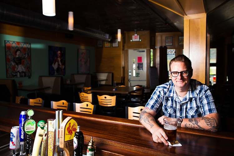 Ted Smith, one of the owners of Tip Top Deluxe Bar and Grill
